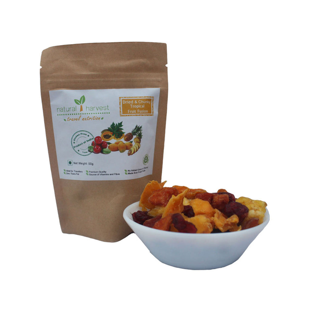 Dried and Chunky Tropical Fruit Fusion - Biodegradable Pack