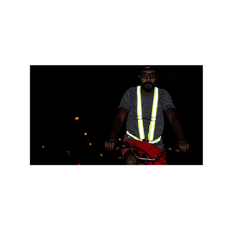 Flash Hi Viz Suspenders - Flourescent Green