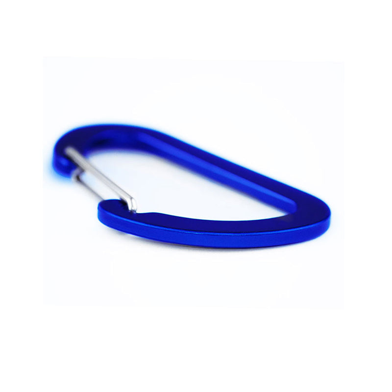 Matt Carbon Accessory Carabiner - 7cms - Blue