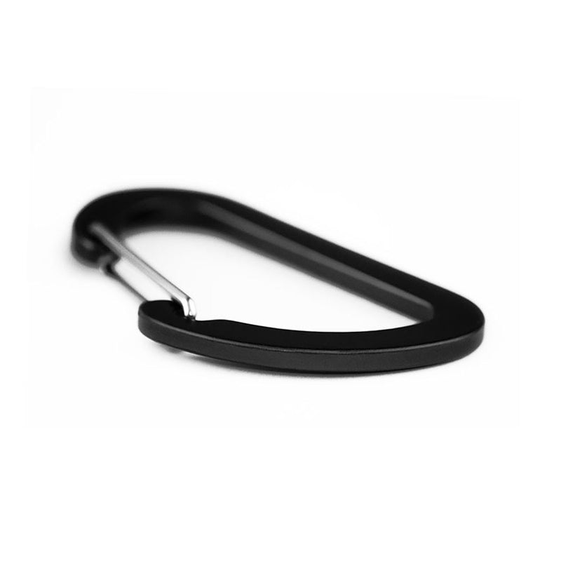 Matt Carbon Accessory Carabiner - 7cms - Black