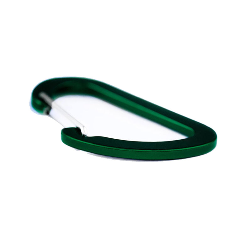 Matt Carbon Accessory Carabiner - 7cms - Military Green