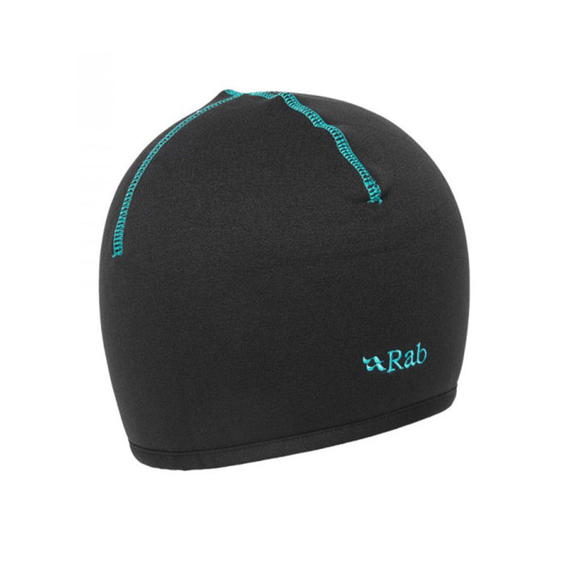 Powerstretch Winter Beanie - Black+Turquoise
