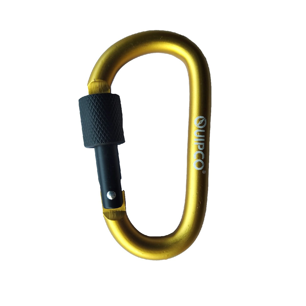 Coral Screwgate Accessory Carabiner - 8cms - Yellow