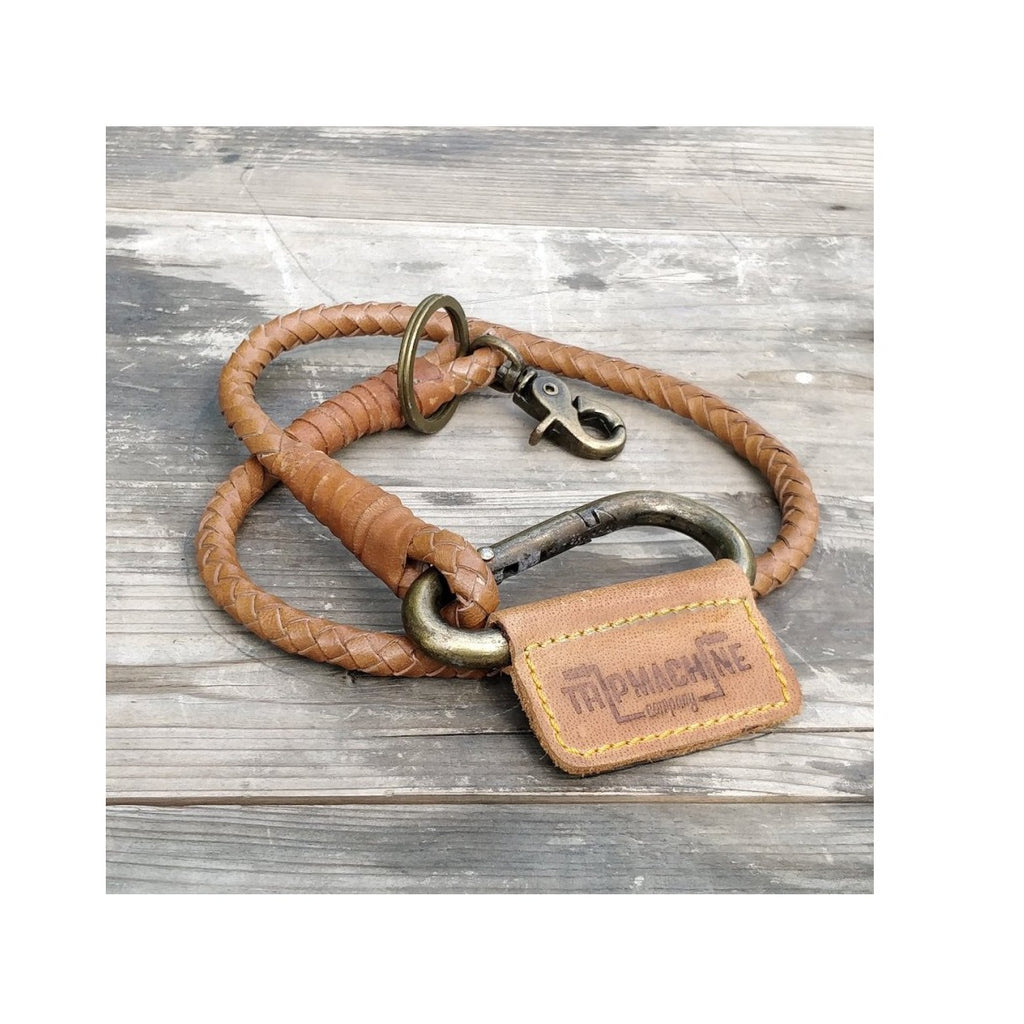 Braided Key Chain - Vintage Tan