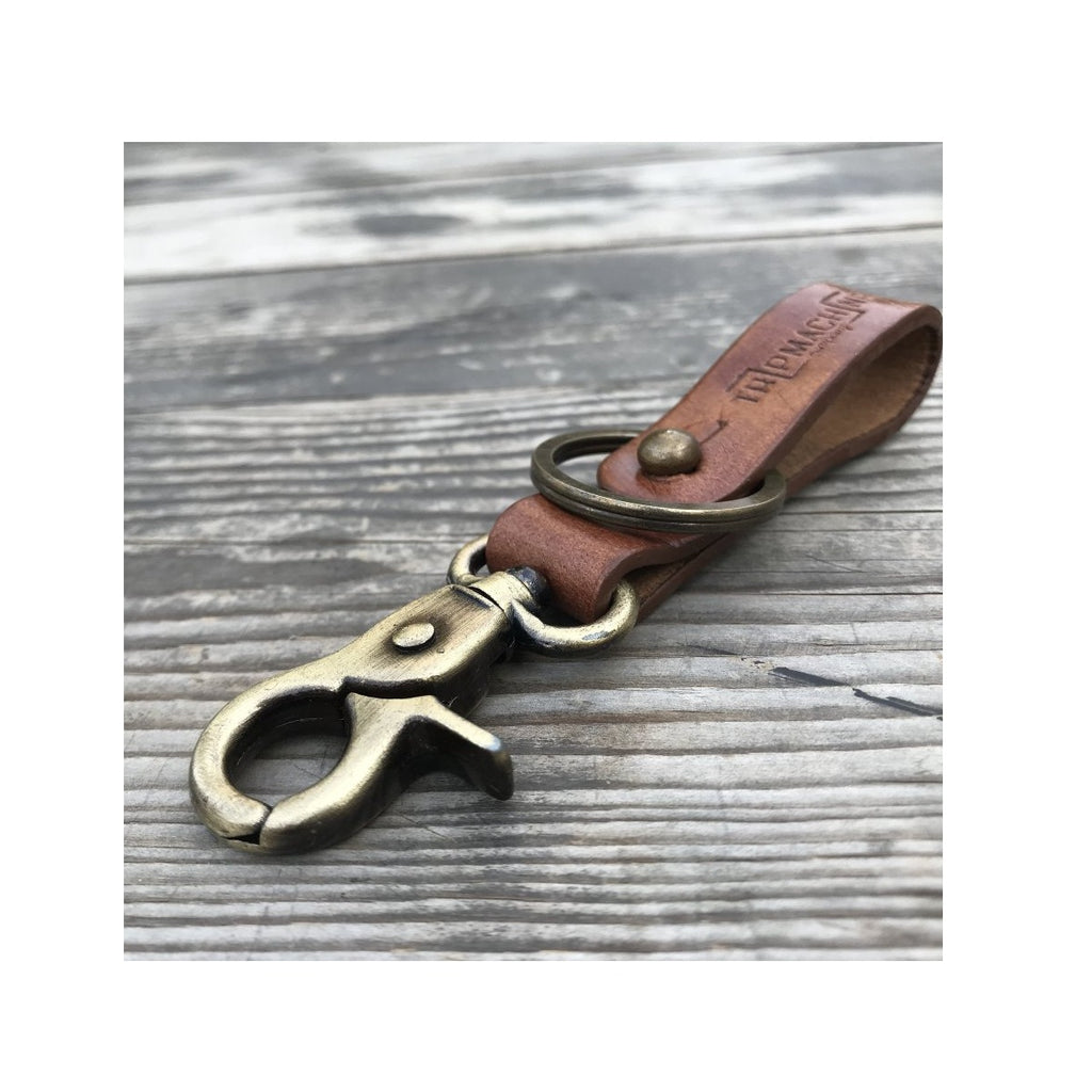 Key Fob - Vintage Tan With Antique Gold