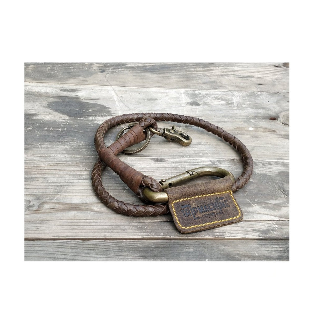Braided Key Chain - Tobacco brown