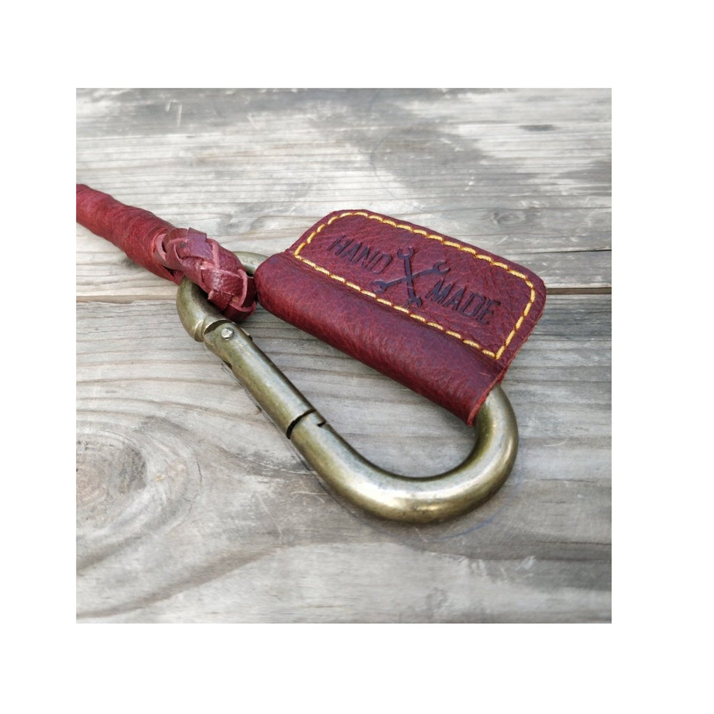 Braided Key Chain - Cherry Red