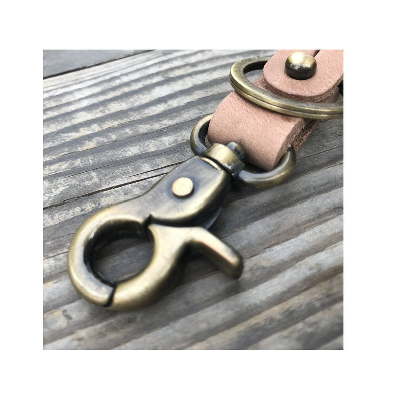 Key Fob - Raw With Antique Gold