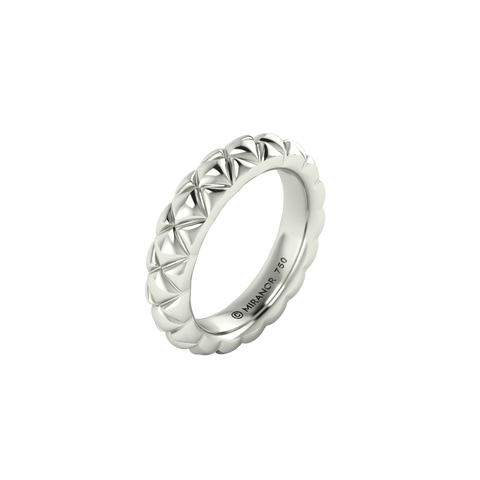 18 karat white gold Butterscotch 5.5 ring