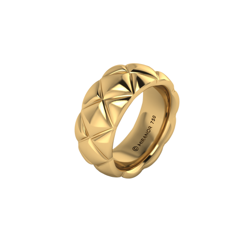 18 karat yellow gold Butterscotch 8.0 ring