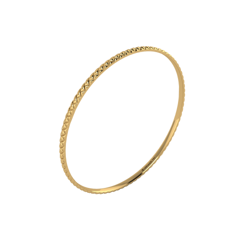 18 karat yellow gold Butterscotch 3.0 bangle