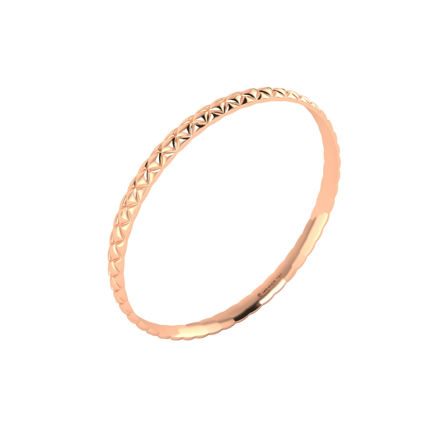 18 karat rose gold Butterscotch 5.5 bangle