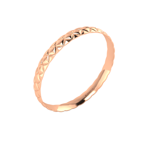 18 karat rose gold Butterscotch 8.0 bangle