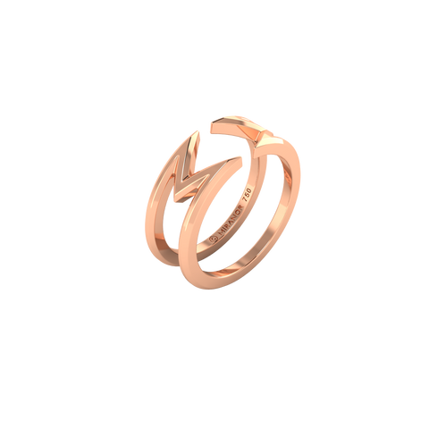 18 karat rose gold Ribbon ring