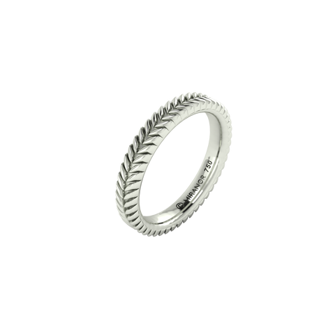 18 karat white gold Sway 3.0 ring