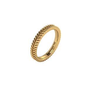 18 karat yellow gold Sway 3.0 ring