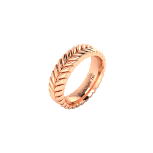 18 karat rose gold Sway 5.5 ring