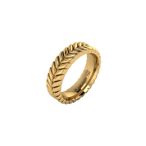 18 karat yellow gold Sway 5.5 ring