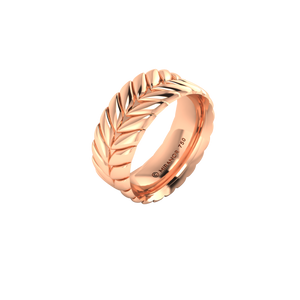 18 karat rose gold Sway 8.0 ring
