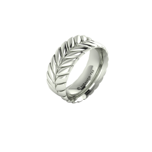 18 karat white gold Sway 8.0 ring
