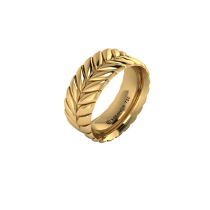 18 karat yellow gold Sway 8.0 ring