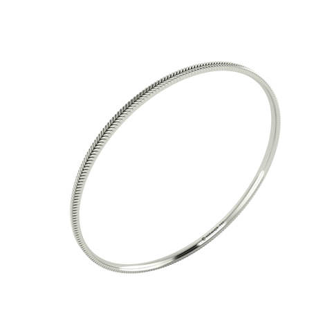 18 karat white gold Sway 3.0 bangle