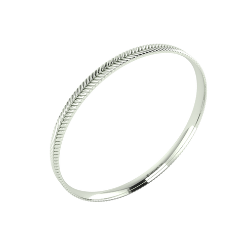 18 karat white gold Sway 5.5 bangle