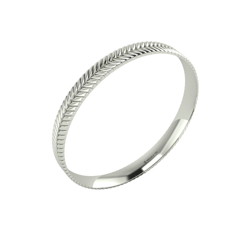18 karat white gold Sway 8.0 bangle