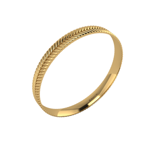 18 karat yellow gold Sway 8.0 bangle