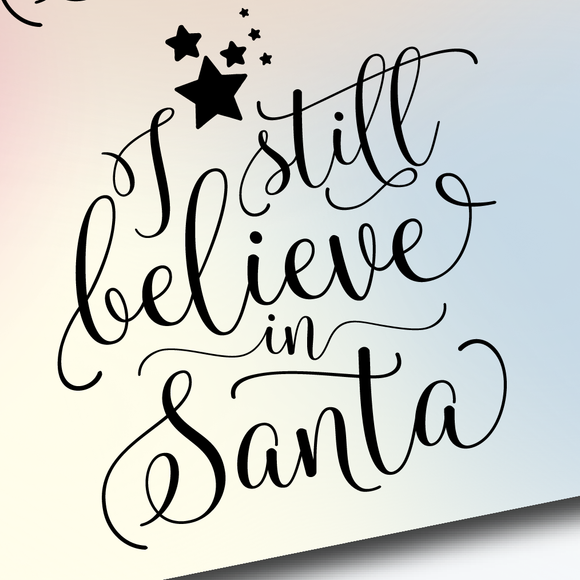 I Still Believe In Santa Christmas Quotes Planner Stickers