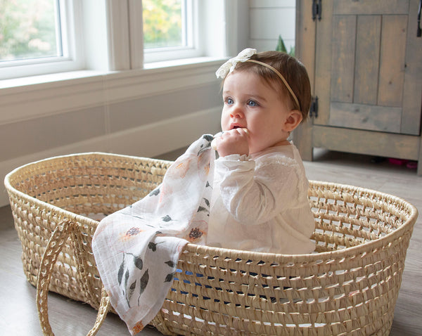 La Boheme Petal Lovey Teething Blanket