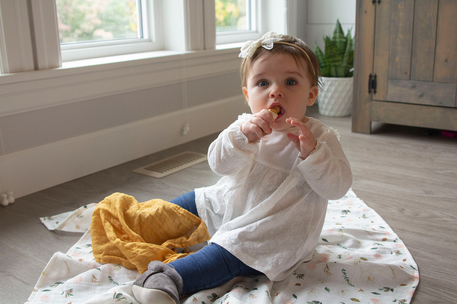 Mustard Lovey Teething Blanket
