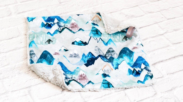 Call of the Mountains Arctic Minky Blanket