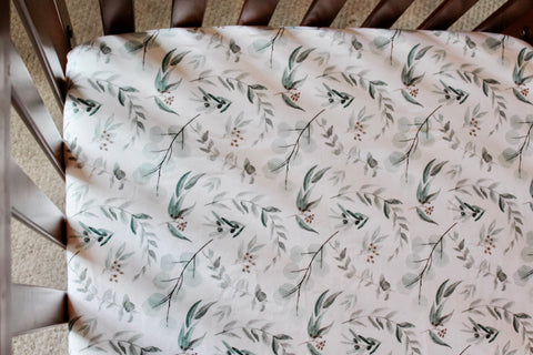 Australian Eucalyptus Fitted Crib Sheet