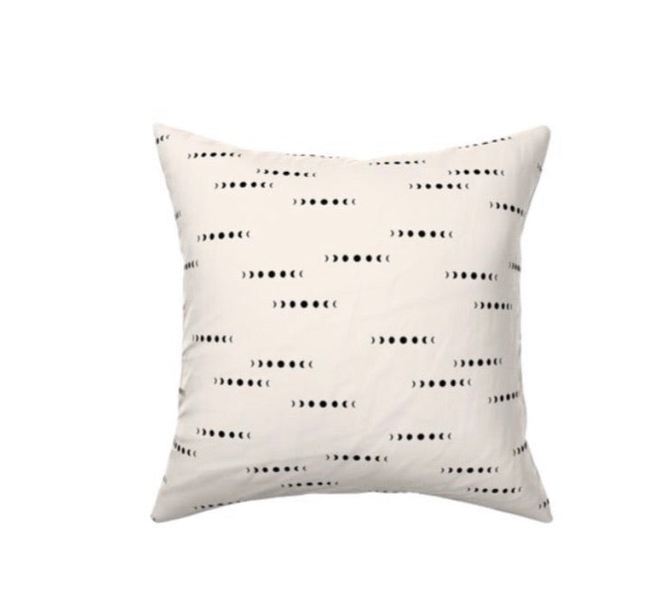 Moon Phases Decor Pillow Cover