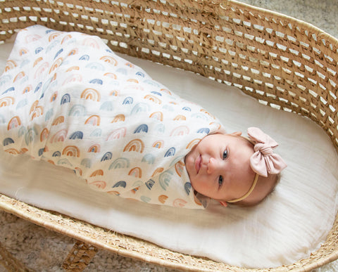 Leo Rainbows Swaddle Blanket