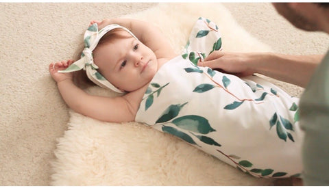 Wild at Heart Greenery Swaddle Blanket