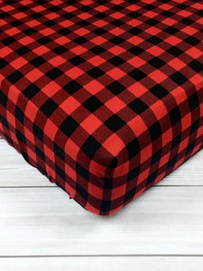 Buffalo Plaid R&B Fitted Crib Sheet