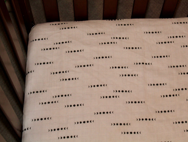 Moon Phases Fitted Crib Sheet