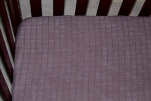 Merlot Fitted Crib Sheet