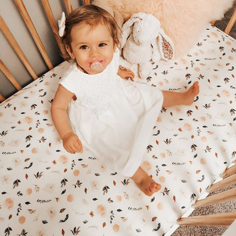 Magnolia Floral Fitted Crib Sheet