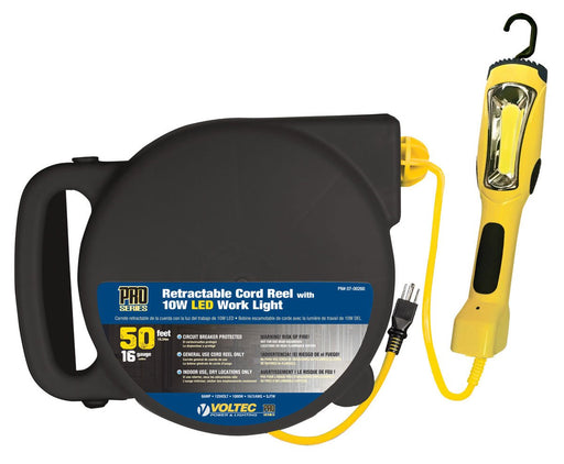 Retractable Extension Cord Work Light 1200 Lumens 50 Ft - Wryker