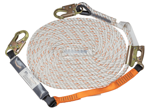 Vertical Lifeline Assembly (25' & 50') with 6' Lanyard - Wryker