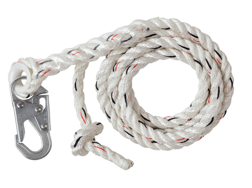 Vertical Lifeline Assembly  25' and 50' w/ Snap Hook - Wryker