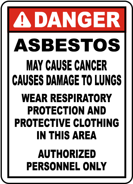 Asbestos Sign Paper 11X17 English Pack of 100 - Wryker