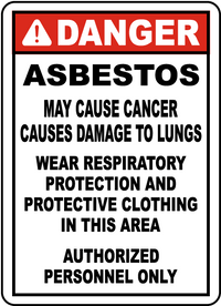 "Danger Asbestos (14""x20"" Plastic Sign)"
