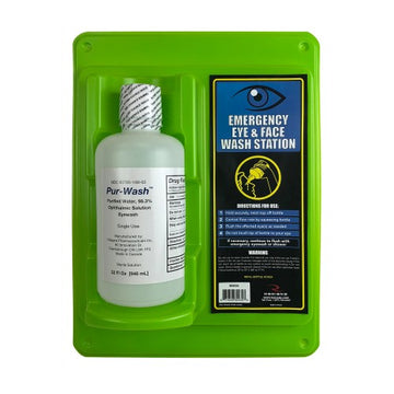 Emergency Eye Wash Station (Single 32 Oz.)