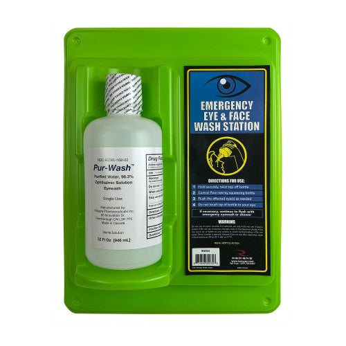 Emergency Eye Wash Station (Single 32 Oz.) - Wryker