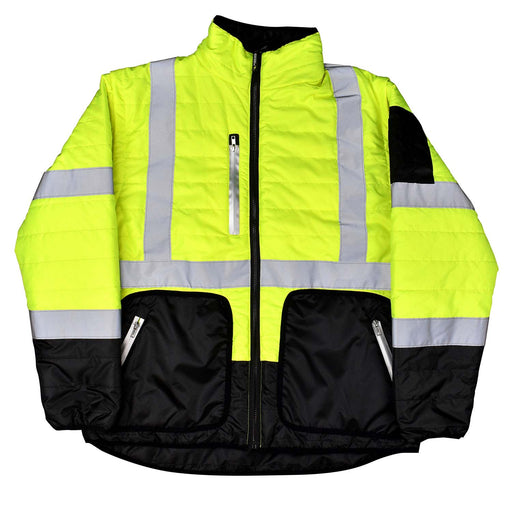 Quilted Reversible 4-in-1 Jacket with Custom Logo - Wryker