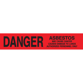 "Red Barrier Tape - ""DANGER Asbestos Hazard"""